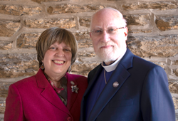 The Very Rev. Canon Robert A. Schiesler PhD and his wife Mary E. Novello